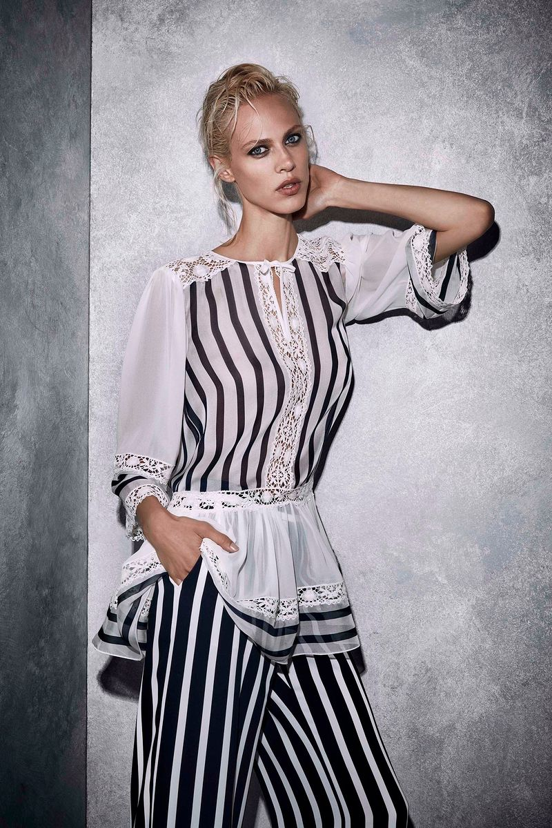 Фото №1: Блуза Alberta Ferretti из коллекции Resort 2017