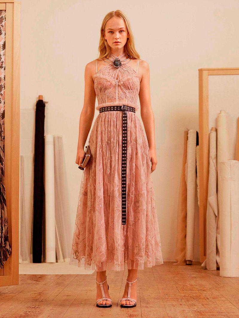 Платье от Alexander McQueen коллекция Pre-Fall 2017
