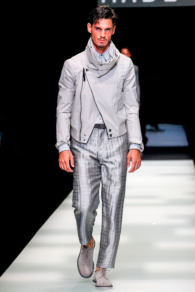 Фото №1: Куртка от Giorgio Armani из коллекции Menswear Spring Summer 2018