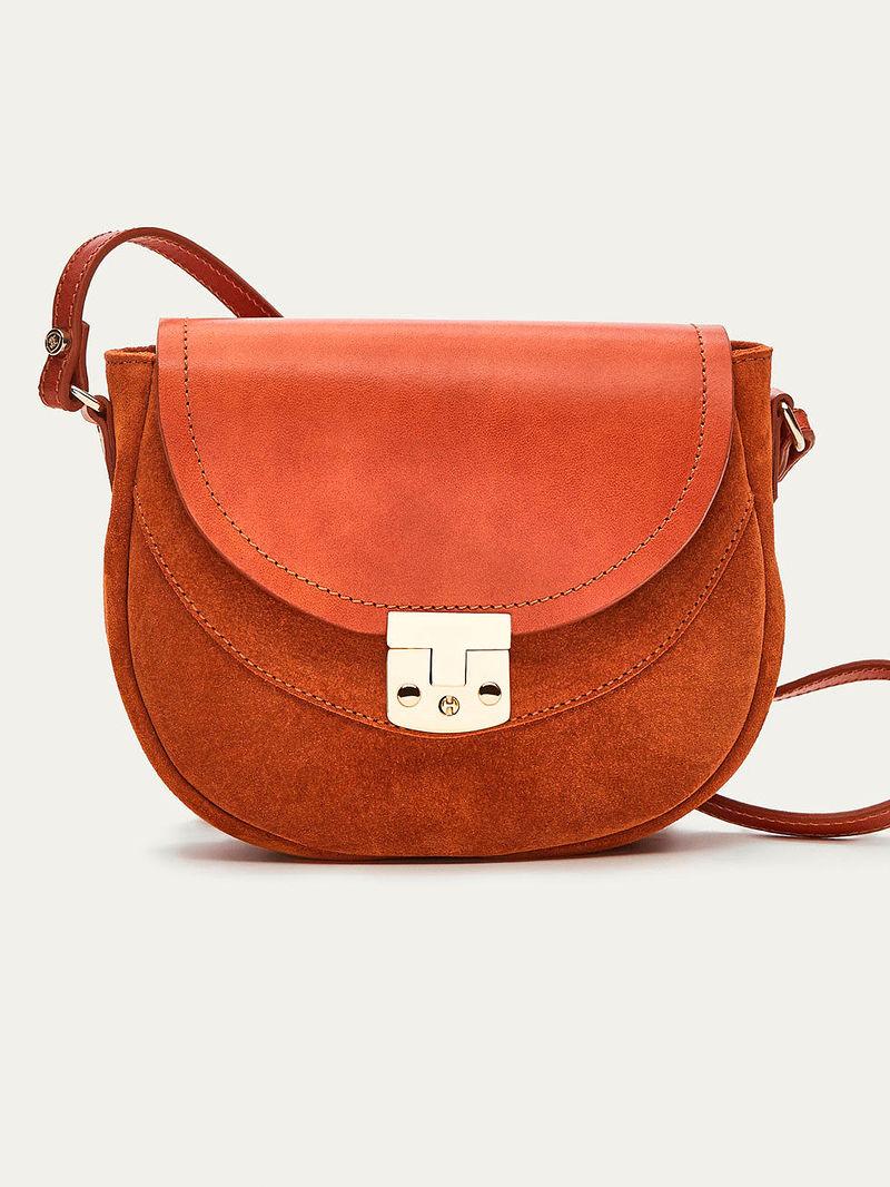 Фото №2: Кожаная сумочка от Massimo Dutti из коллекции Kids Accessories