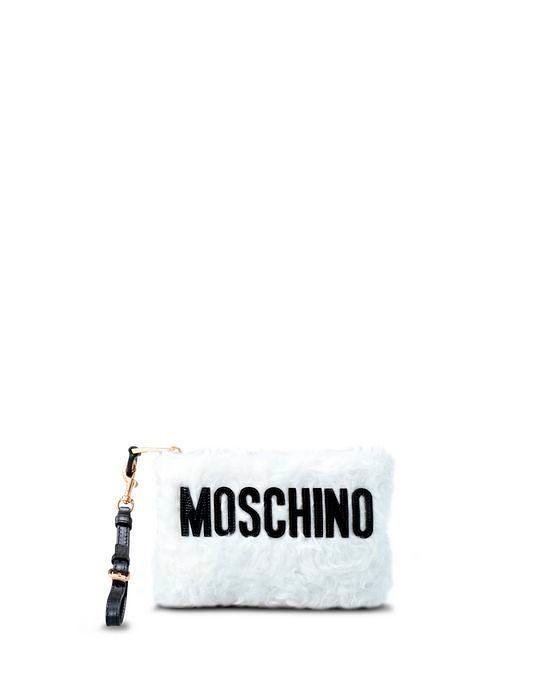Фото №1: Косметичка от Moschino из коллекции Женских сумок и аксессуаров