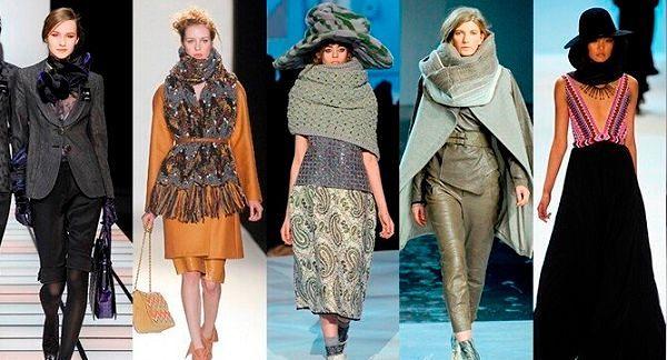Модные осенне-зимние аксессуары для шеи
