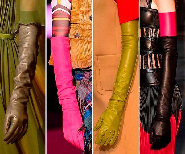 Модные перчатки из коллекций сезона Осень-Зима 2016