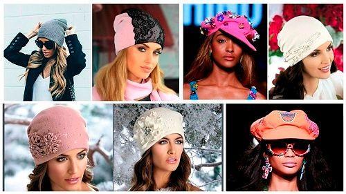 Модные головные уборы для женщин