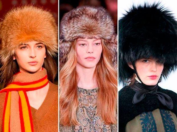 Меховые шапки: фото модных головных уборов