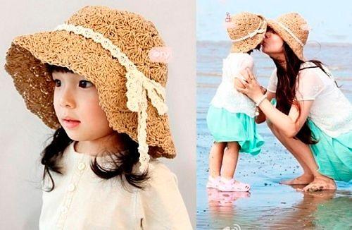 Летние модели шляпок для девочек