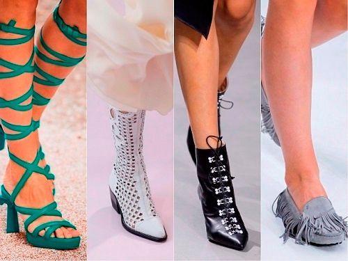 Модные тенденции Весна-Лето 2018 обувь: фото