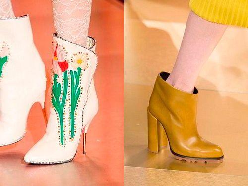 Модная обувь весна 2018: фото женские ботильоны