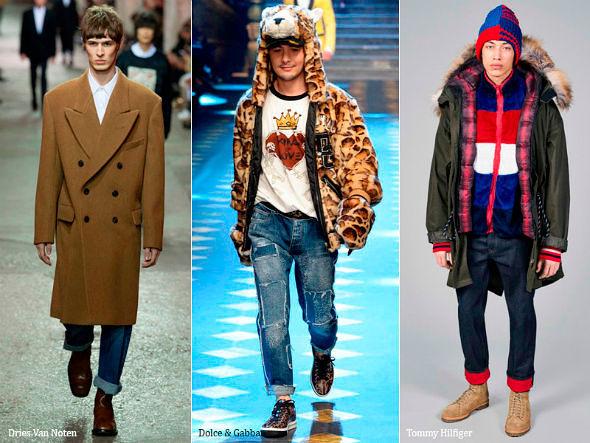 Модные мужские джинсы осень-зима 2018-2019, фото