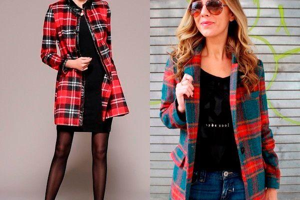 Модная одежда в клетку осень-зима 2018-2019, фото