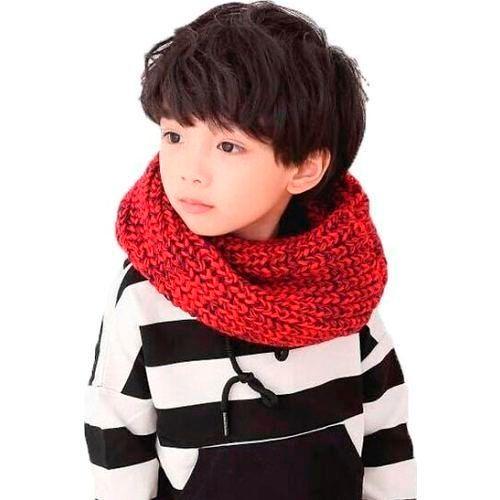 Детские шарфы осень-зима 2018-2019 для мальчиков, фото