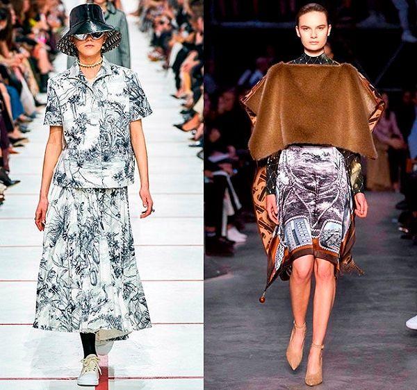Женская одежда осень зима 2019 тенденции фото.