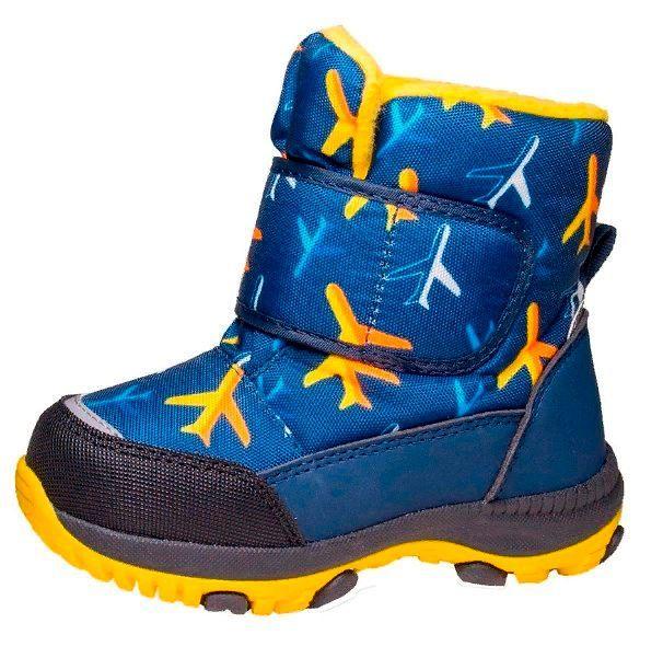 Детская зимняя обувь на высокий подъем.