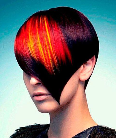 Необычное колорирование волос мастер класс