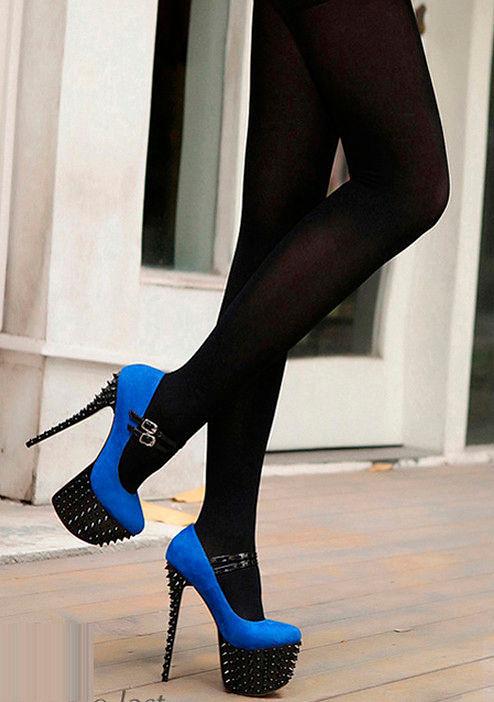 С Чем Носить Синие Туфли