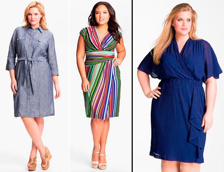 Современные модели платьев для полных