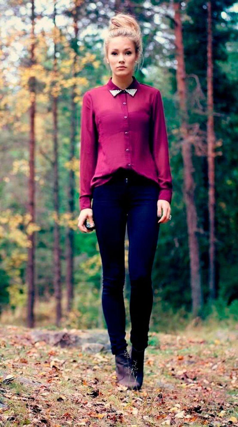 Сине фиолетовый цвет девушки