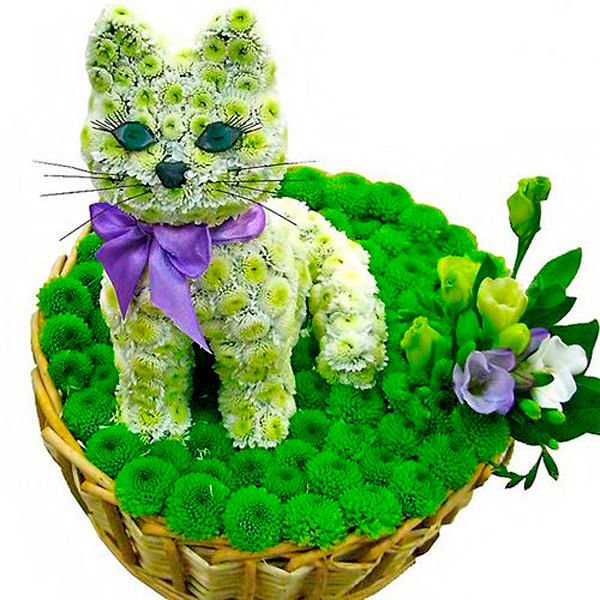 Фигурки животных из цветов