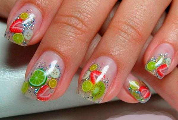 Дизайн с фимо на ногтях
