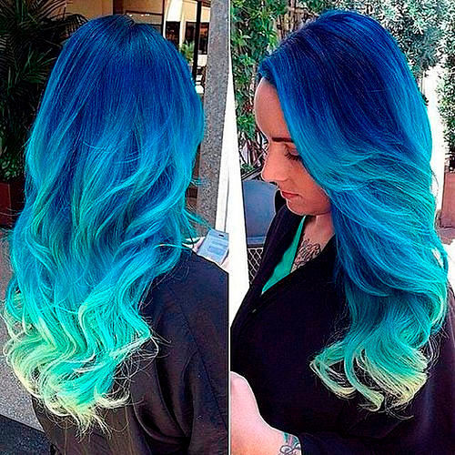 Как сделать цвет волос голубой