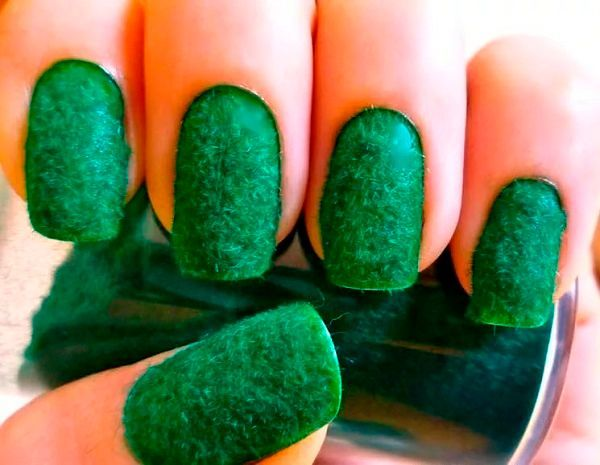 Фото №6: Маникюр меховые ногти: фото с бархатом