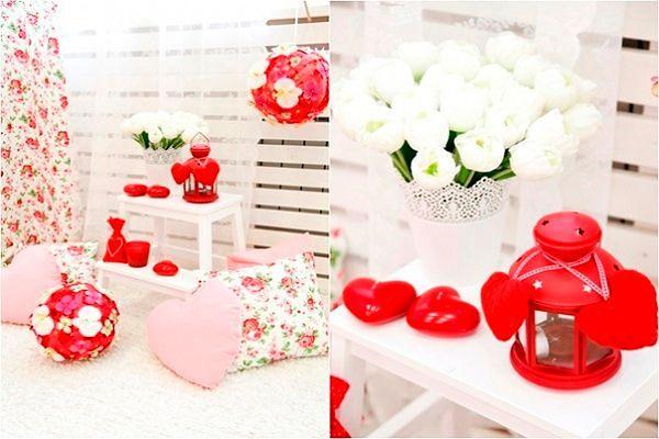 Фото №1: Оформление на День Валентина для комнаты