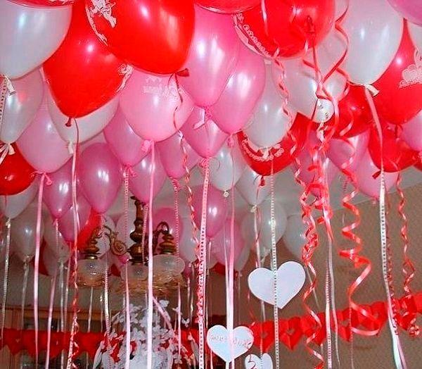 Фото №15: Оформление шарами на День Святого Валентина