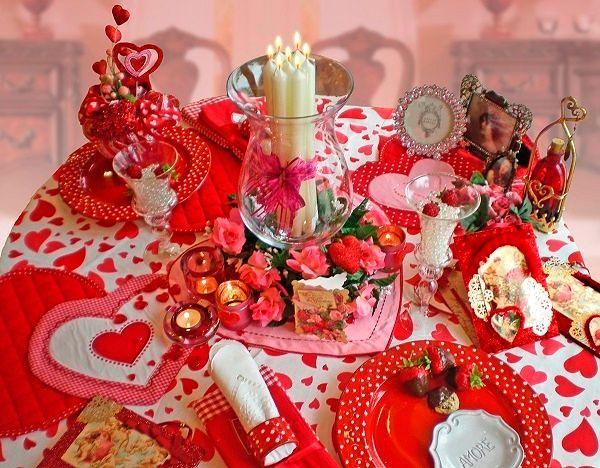 Фото №19: Оформление стола на День Святого Валентина фото