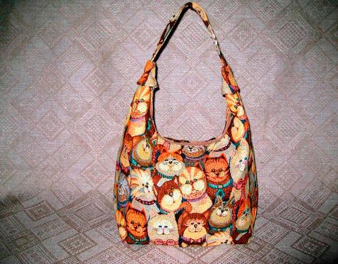 Фото №11: Гобеленовые сумки с котами, фото