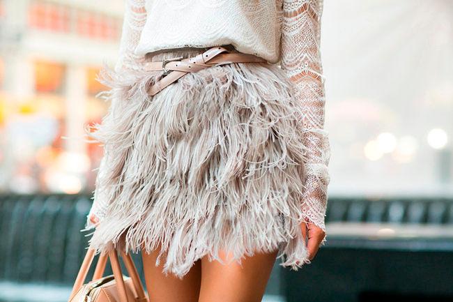 Фото №14: Пушистая белая юбка, фото