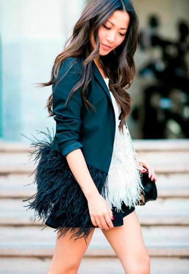 Фото №10: Пиджак с перьями, фото