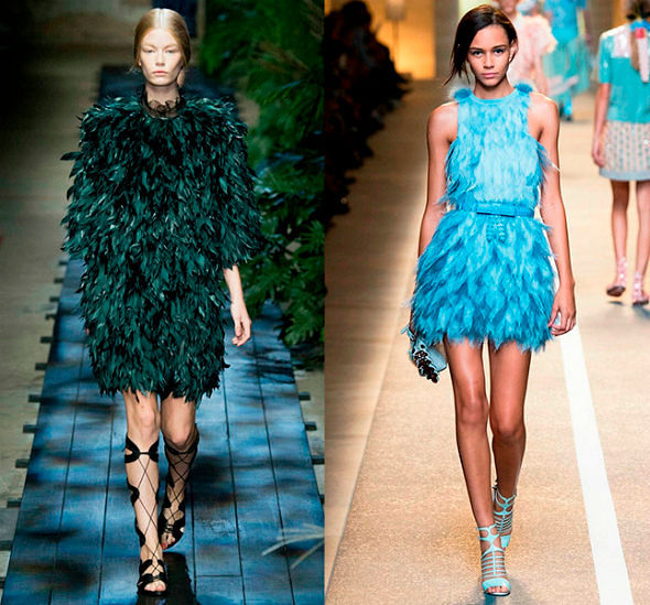 Фото №1: Одежда с перьями страуса, фото