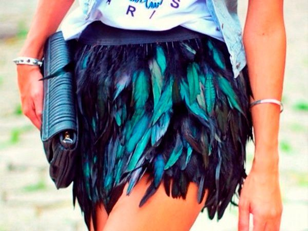Фото №9: Юбка из перьев страуса, фото