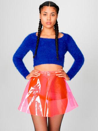 Фото №9: Прозрачная юбка из пластика, фото