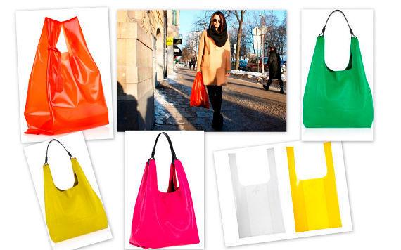 Фото №14: Скандальный тренд 2018 - сумки-пакеты, фото