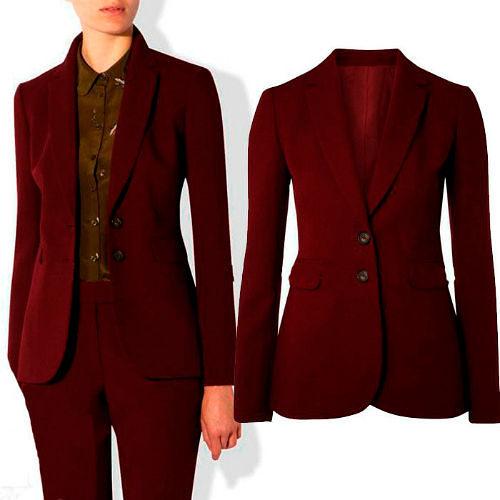 Фото №5: Модный бордовый деловой костюм 2018, фото