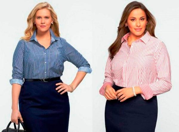 Фото №6: Модные деловые образы для полных женщин, фото