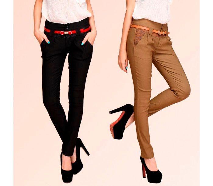Фото №11: Стильные школьные брюки для девушки, фото
