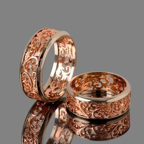 Фото №3: Модные винтажные обручальные кольца 2018, фото