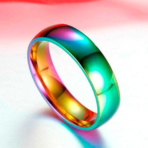 Фото №12: Модные разноцветные обручальные кольца 2018, фото