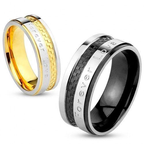Фото №11: Модные обручальные кольца 2018 из 2-х металлов, фото