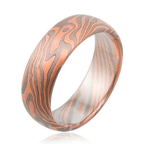 Фото №10: Модные обручальные кольца мокуме гане 2018, фото