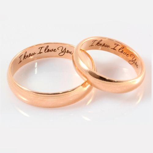 Фото №2: Модные обручальные кольца 2018 с гравировкой, фото