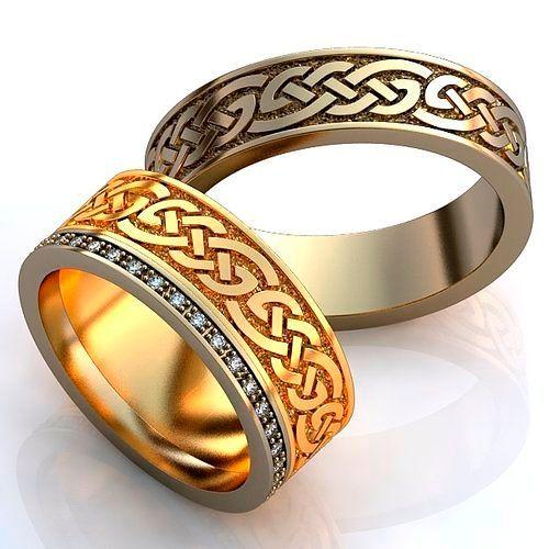 Фото №9: Модные обручальные кольца 2018 с кельтскими узорами, фото