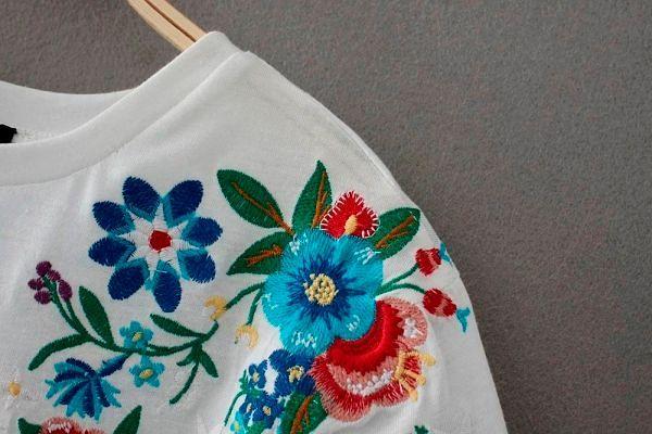 Фото №2: Цветочная вышивка - антитренд осени 2018, фото