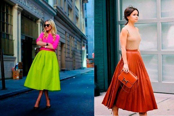Фото №8: Модные цвета юбок осень-зима 2018-2019, фото