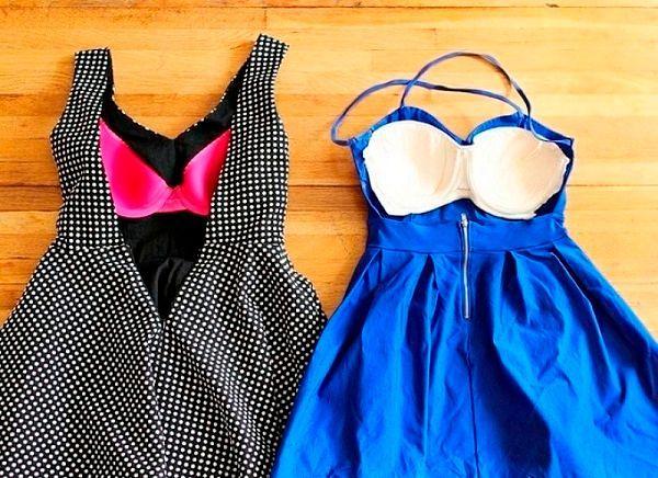 Фото №8: Как спрятать бюстгальтер в платье