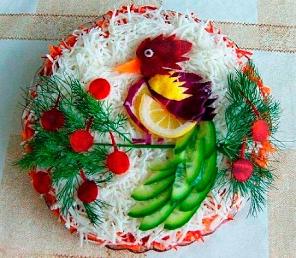 Фото №21: Красивое оформление блюд для новогоднего стола