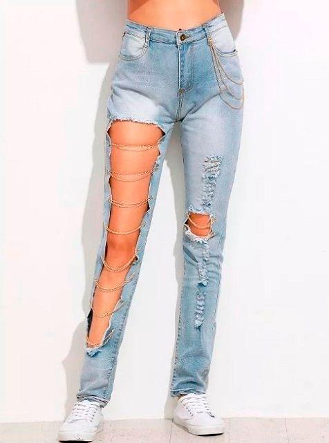 Фото №4: Рваные джинсы для женщин.
