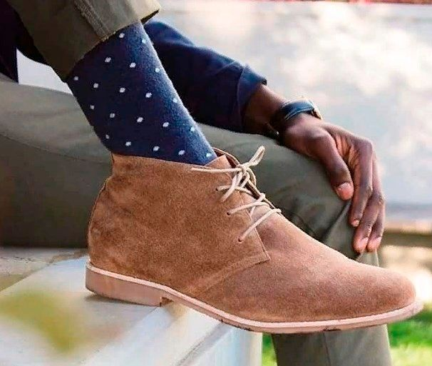 Фото №12: Модные мужские ботинки.